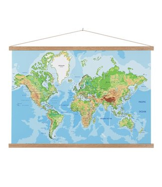 Sweet Living Schoolplaat Wereldkaart Geografisch Lat