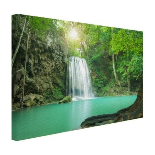 Sweet Living Canvas Schilderij Erawan Jungle Waterval