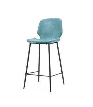 By-Boo Barkruk Seashell Blauw - 43x52xH104 cm