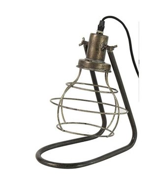 Sweet Living Tafellamp Metaal Grijs - 28,5x18,5xH35,5 cm
