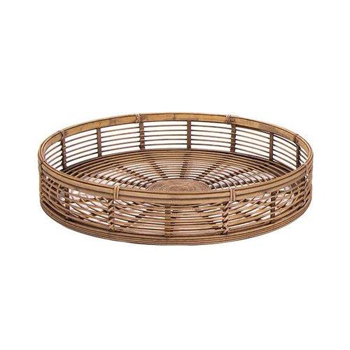 Sweet Living Rond Dienblad Bamboe - Ø57xH10 cm