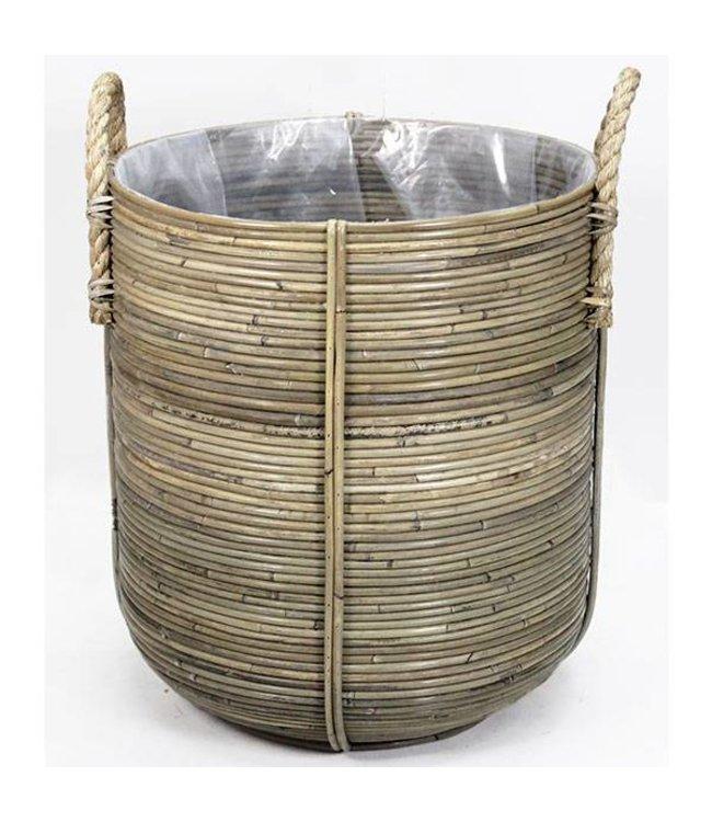 Sweet Living Bamboe Bloemenmand - Ø45xH50 cm