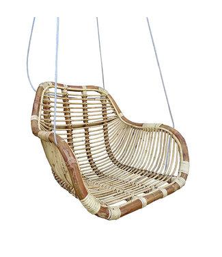 Sweet Living Rotan Hangstoel Fly Naturel - 66x65xH49 cm