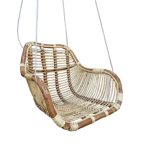 Hangstoel Rotan Wit.Rotan Hangstoel Fly Naturel 66x65xh49 Cm Sweet Living Shop
