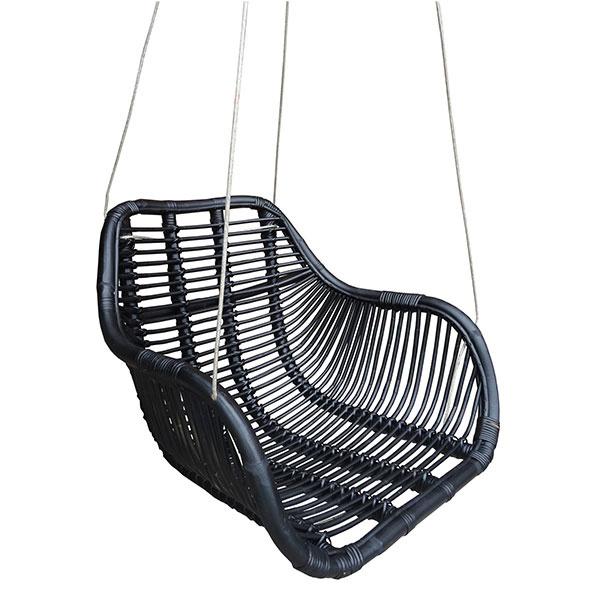 Hangstoel Vintage Wit.Rotan Hangstoel Fly Zwart 66x65xh49 Cm Sweet Living Shop