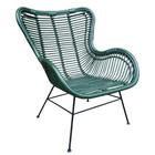 Sweet Living Groene Rotan Vlinderstoel - 70x76xH90 cm