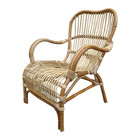Sweet Living Rotan Loungestoel Naturel - 67x80xH86 cm