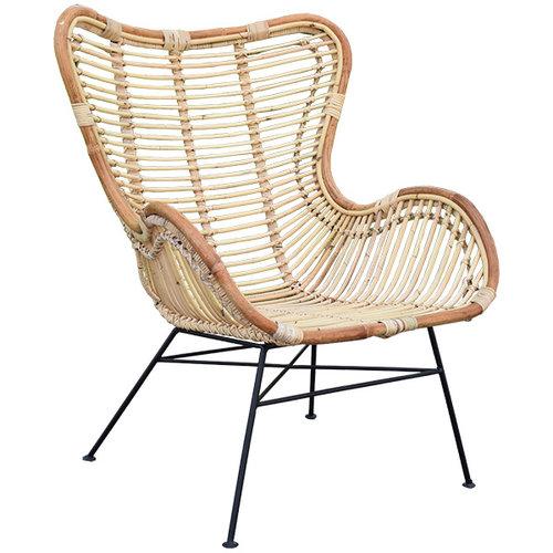 Sweet Living Rotan Vlinderstoel - 70x76xH90 cm