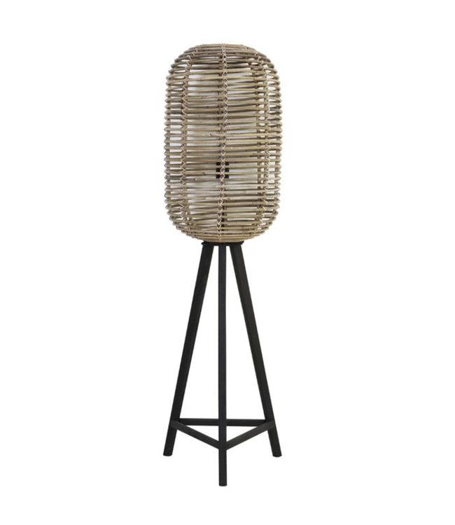 Sweet Living Rotan Vloerlamp Greywash - Ø36xH140 cm