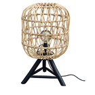 Sweet Living Rotan Tafellamp Naturel - Ø38xH64 cm
