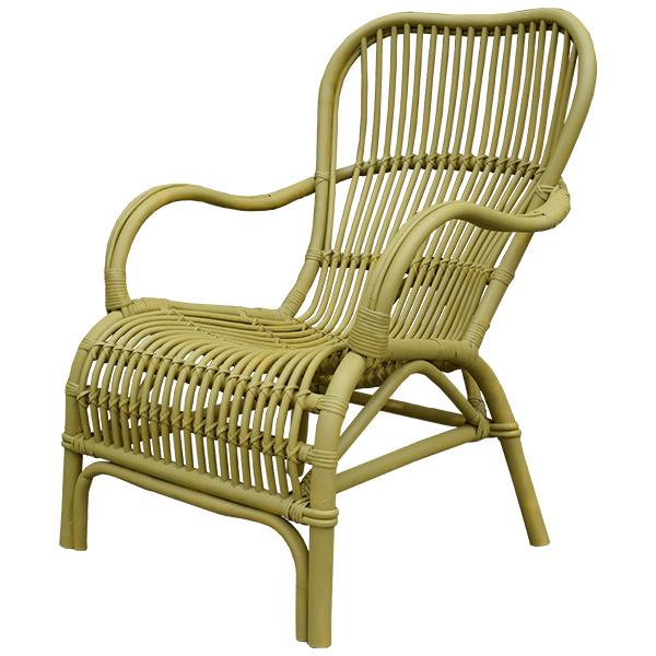 Landelijke Lounge Stoel.Mosterdgele Rotan Loungestoel 67x80xh86 Cm Sweet Living Shop