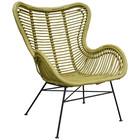 Sweet Living Mosterdgele Rotan Vlinderstoel - 70x76xH90 cm