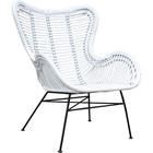Sweet Living Witte Rotan Vlinderstoel - 70x76xH90 cm