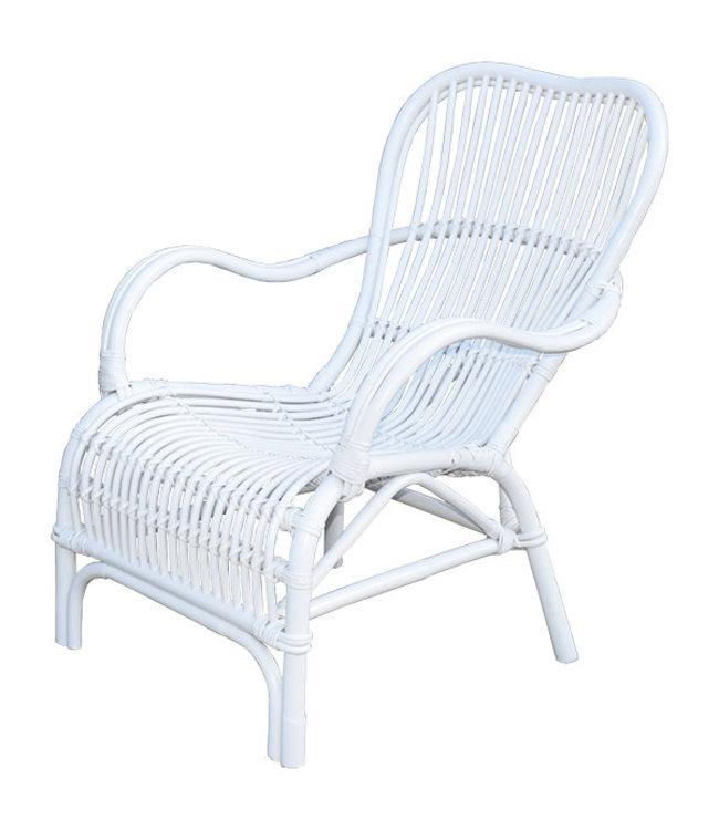 Sweet Living Witte Rotan Loungestoel - 67x80xH86 cm