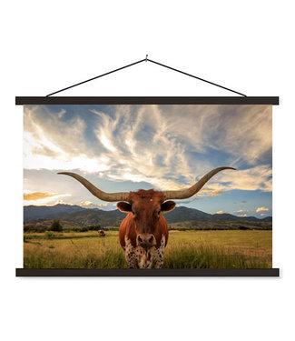 Sweet Living Schoolplaat Texas Longhorn
