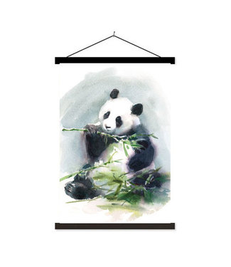 Sweet Living Schoolplaat Eating Panda - 60xH90 cm