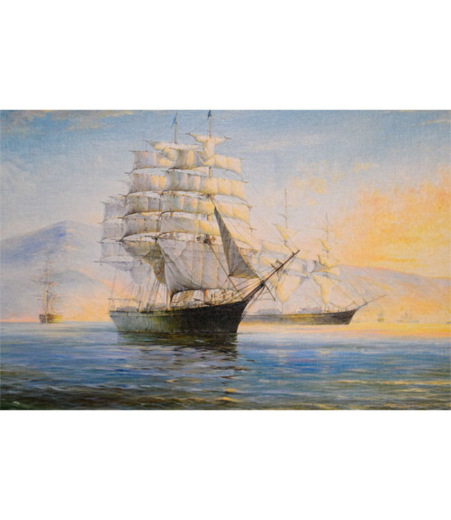 Sweet Living Canvas Schilderij Authentiek Zeilschip