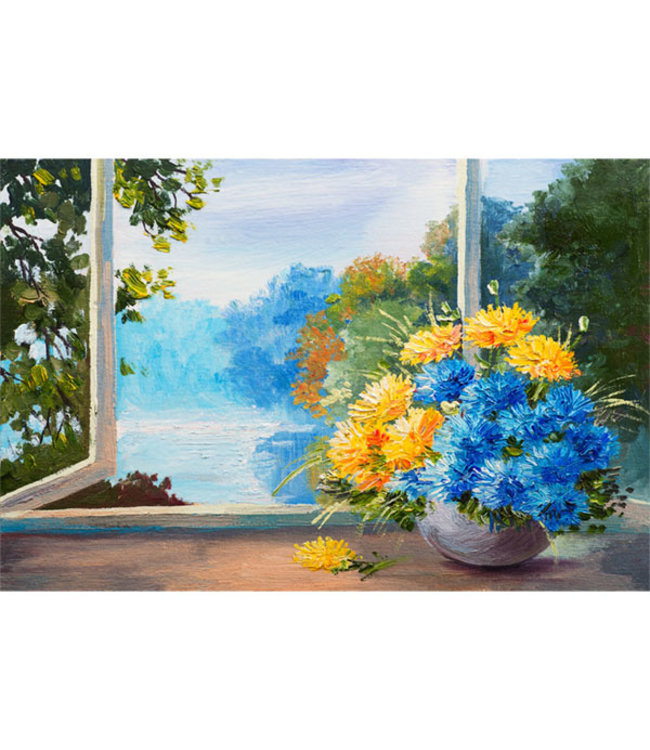 Sweet Living Canvas Schilderij Spring Flowers