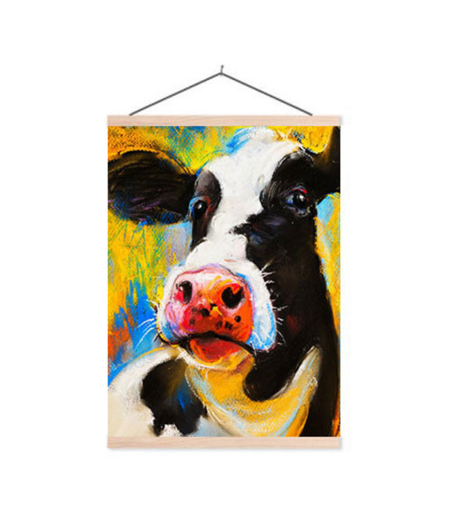 Sweet Living Schoolplaat Cow Portrait - 60xH90 cm