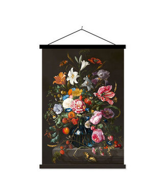 Sweet Living Schoolplaat Vase Of Flowers - 60xH90 cm