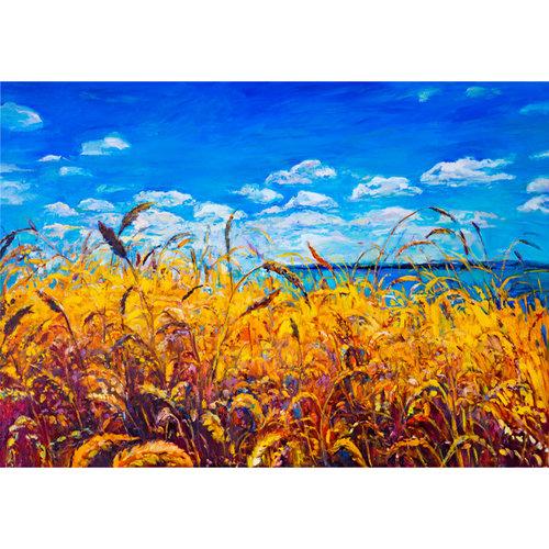 Sweet Living Canvas Schilderij Geschilderde Rietkraag