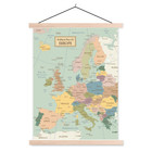 Sweet Living Schoolplaat Wereldkaart Political Map