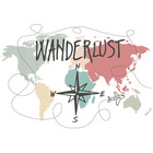 Sweet Living Canvas Wereldkaart Wanderlust