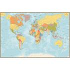 Sweet Living Canvas Wereldkaart Gedetailleerd