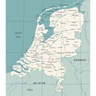 Sweet Living Canvas Wereldkaart Nederland
