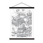 Sweet Living Schoolplaat City Map Rotterdam - 60xH90 cm