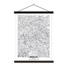 Sweet Living Schoolplaat City Map Berlijn - 60xH90 cm