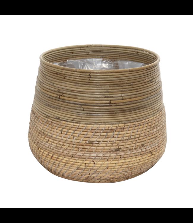 Sweet Living Bamboe Plantenmand - Ø40xH36 cm