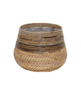 Sweet Living Bamboe Plantenmand - Ø46xH32 cm