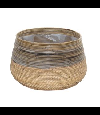 Sweet Living Bamboe Plantenmand  - Ø55xH33 cm