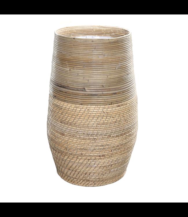 Sweet Living Bamboe Plantenmand - Ø40xH70 cm