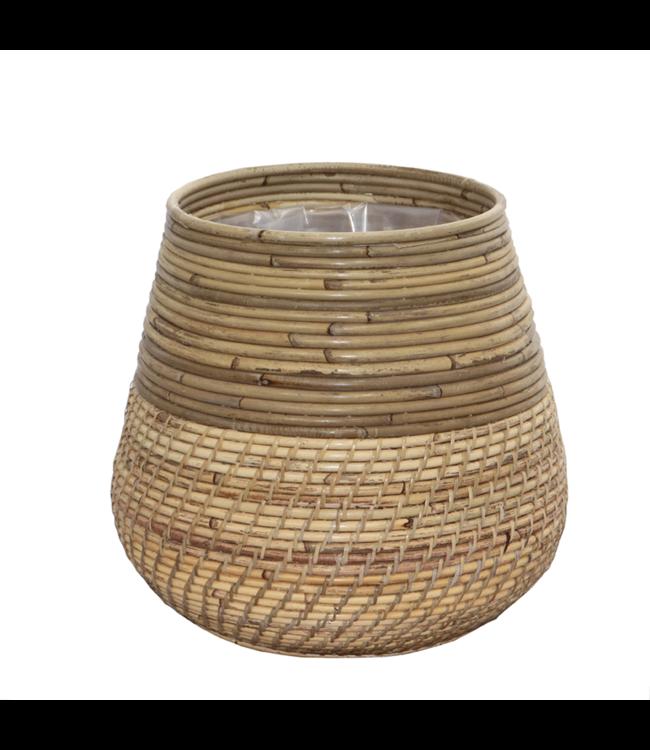Sweet Living Bamboe Plantenmand - Ø40xH33 cm