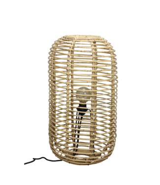 Sweet Living Rotan Tafellamp Marlous - Ø35xH65 cm