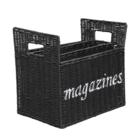 Sweet Living Zwarte Lectuurmand Magazines - 40x26xH35 cm