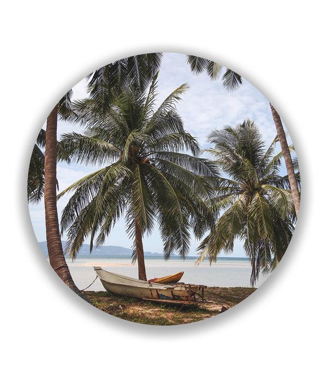 Sweet Living Wandcirkel Tropische Palmbomen