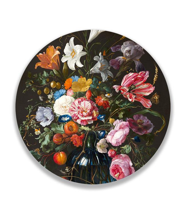 Sweet Living Wandcirkel Vase Of Flowers