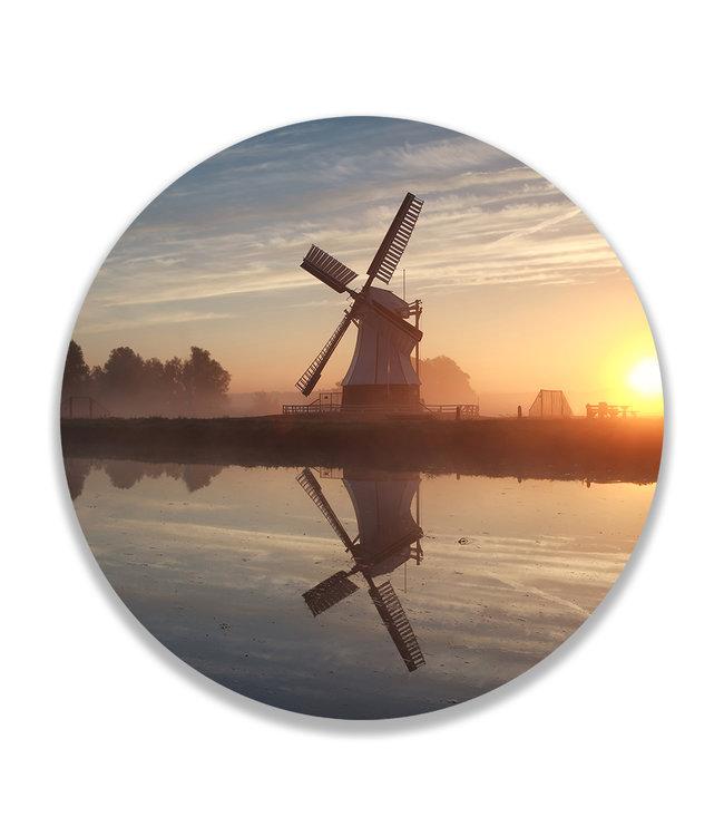 Sweet Living Wandcirkel Hollandse Windmolen