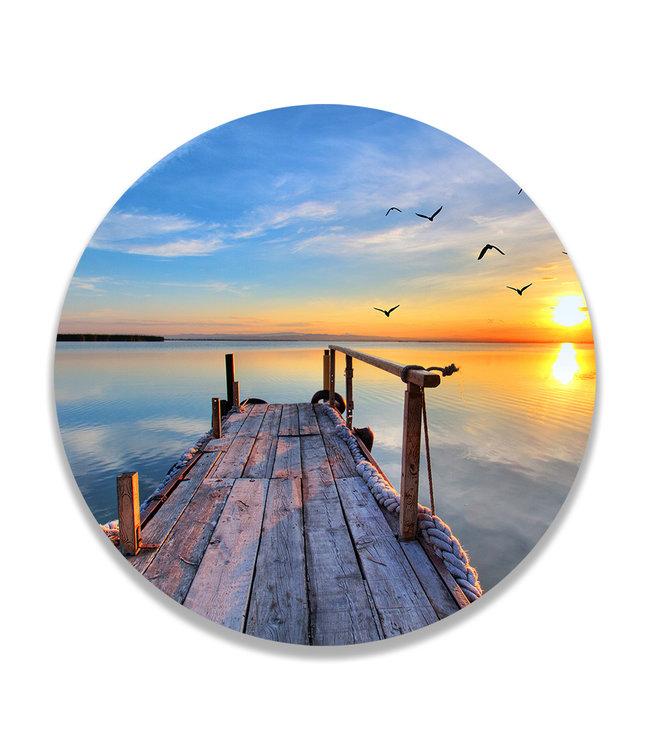 Sweet Living Wandcirkel Sunset Lake