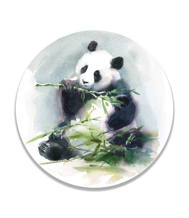 Sweet Living Wandcirkel Eating Panda