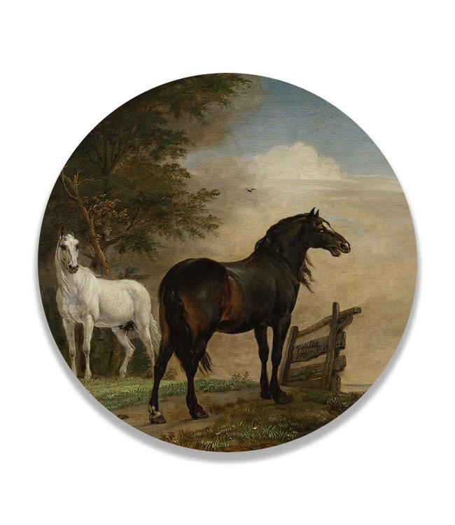 Sweet Living Wandcirkel Twee Paarden