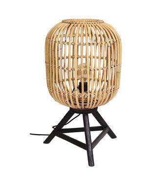 Sweet Living Ronde Tafellamp Rotan Max - Ø36xH60 cm