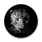 Sweet Living Wandcirkel Zwart Wit Luipaard
