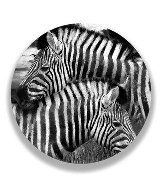 Sweet Living Wandcirkel Twee Zebra's