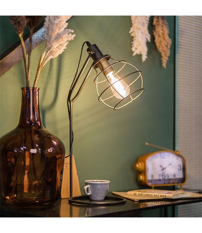 Sweet Living Tafellamp Glen Brons - 22x31,5xH60 cm