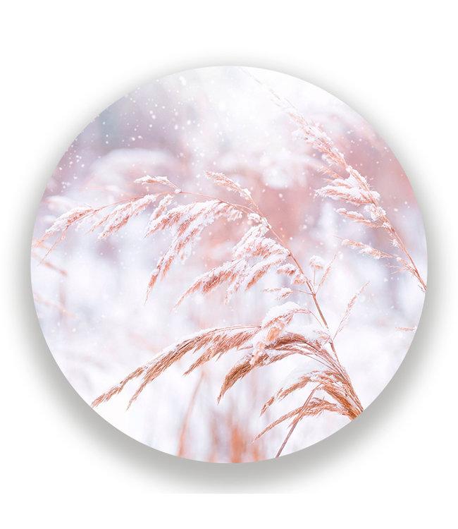 Sweet Living Wandcirkel Besneeuwd Gras