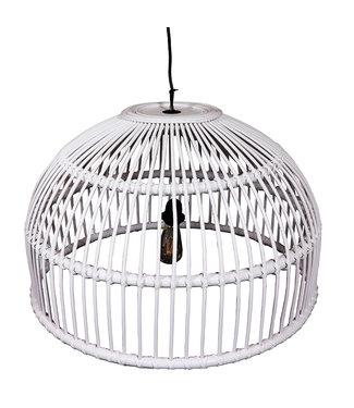 Sweet Living Rotan Hanglamp Wit - Ø70xH45 cm